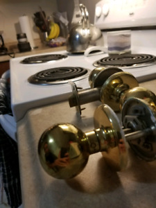 Gold plated indoor door knobs