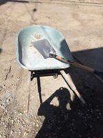 Wheel barrow & shovel $50