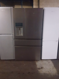 GRADED NEW AEG AMERICAN STYLE FRIDGE FREEZER WITH WATER AND ICE DISPEN