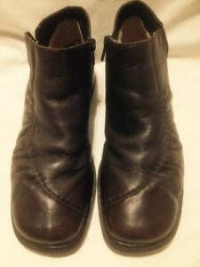 Ladies Rieker Dark Brown Leather Plush Lined Ankle Boots 39M