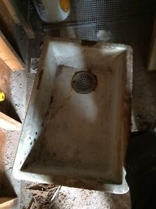 Original cast iron sinks from century home!