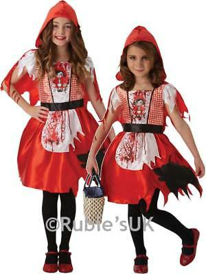 Girls Little Dead Red Riding Hood Fancy Dress Costume Zombie Child Halloween New