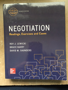 Negotiation; Readings, Exercises and Cases