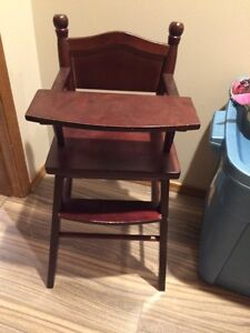 Wooden doll chair $15