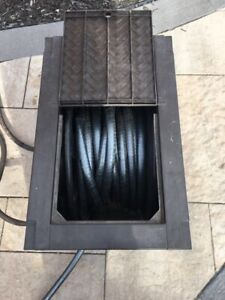 Touch and Go Hose Reel with 100' heavy duty hose