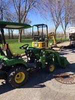 Mini-Excavation, Pelle excavatrice Hydraulique, tracteur pépine