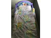 Frozen toddler bed with mattress duvet and pillow cover set