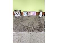 Butterfly bundle! Rug, cushions, canvasses