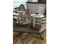 Sauce pans and steamer