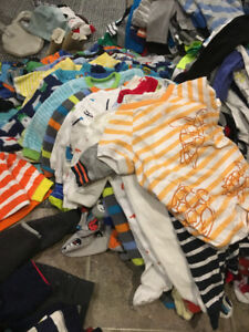 240+ Baby Boy Clothing items 0-12 month assortment.