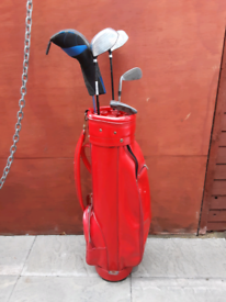 Golf King Golf Bag and Mixed Clubs Putters