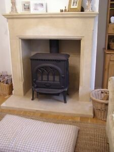 Canterbury Bath Stone Fireplace Fire Surround. Price includes External Hearth