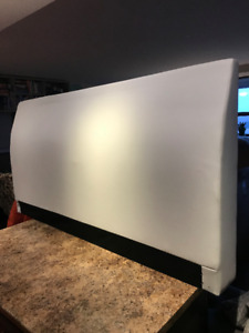 Faux White Leather Head Board