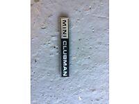 Classic mini ( mini clubman badge )