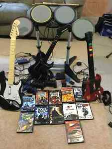 PlayStation 2 with Rock band and games