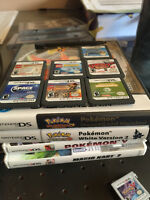 Nintendo 3DS XL with games and extras.