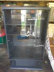 Black Cabinets with Glass door