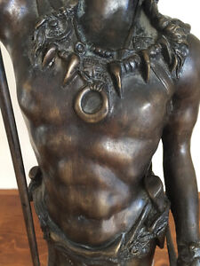 Native American Sculpture  Bronze