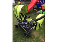 Oyster 2 Pram & Pushchair in Lime Colour