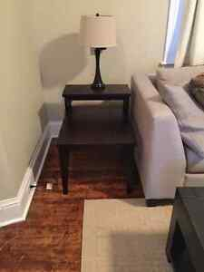Two tiered living room end table