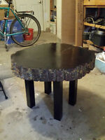 Live edge coffee/ end table