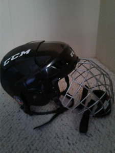 Youth hockey helmet with cage