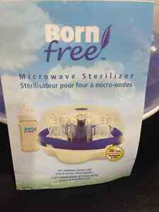 Brand New Born Free Microwave Sterilizer & 4 New bottles $30 Kitchener / Waterloo Kitchener Area image 1