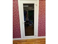 """UPVC door and frame used internally for a short time, excellent condition 80"""" x 33"""""""
