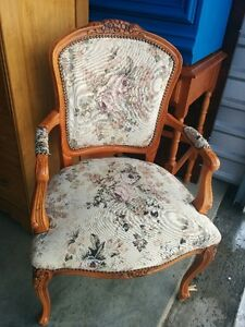 Beautiful Antique French Victorian Provincial Arm Chair