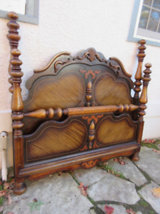Decorative Antique (c1930) Double Bed