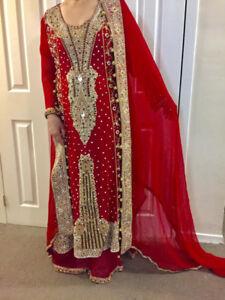Indian/pakistani bridal/party wear dress lehnga Brand New
