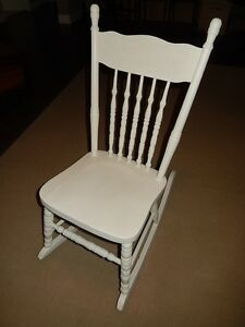 Small Antique Pressback Rocking Chair