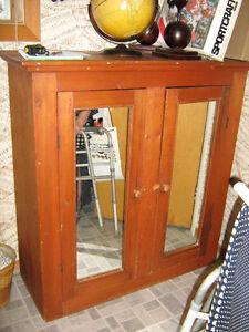 bahut armoire commode meuble en pin portes miroir 51 po haut
