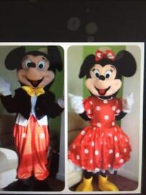 Mickey and Minnie Mouse for hire