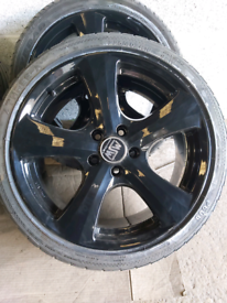 VW T4 5x112 18 inch alloy wheels & tyres