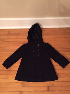Girl's Black Old Navy Wool Jacket - Size 2T