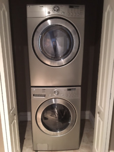 Stainless Steel LG Tromm high-capacity washer and dryer set