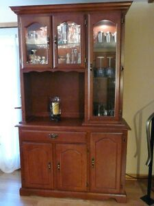 Solid birch buffet and hutch from Bermex