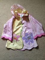 Kidorable Lotus Flower Rain Coat, 2T