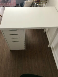 Ikea Desk and Alex Filing Cabinet