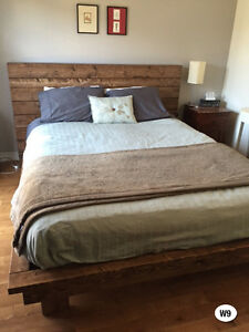 NEW RUSTIC SOLID WOOD BED FRAME + HEADBOARD BY ORDER Cornwall Ontario image 6