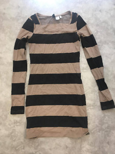 Stripy Tight Dress