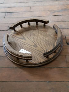 "14"" Oak Lazy Susan"