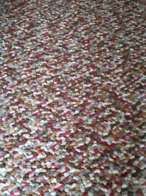 Dunelm candy bean wool rug