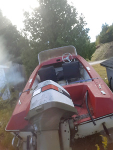 Older 14ft boat with 85hp johnson *reduced*
