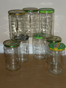 10 large Salsa Jars : Clean : ready to use : 645 ml or 21.81 oz Cambridge Kitchener Area image 1