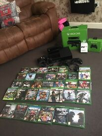 Xbox one + 33 Games + Extras May Swap for car