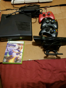 Xbox 360 Elite with Kinect and a game