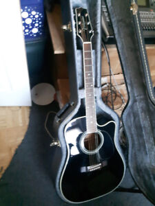 Takamine EF341C Acoustic Guitar 1996 w/ Guitar Case and Stand