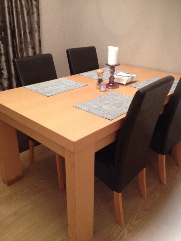 Beech dining table next and 4 faux Purchase sale and  : 86 from dealry.co.uk size 600 x 800 jpeg 51kB